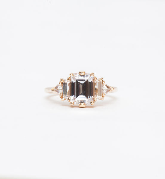 White Diamond Theda Ring