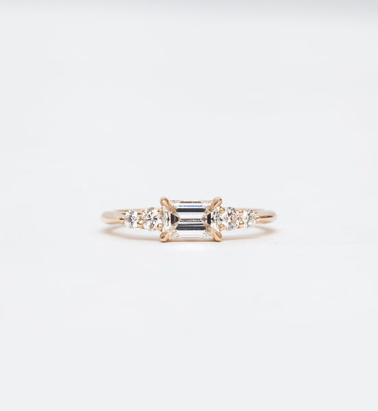 White Diamond Five Stone Bea Ring