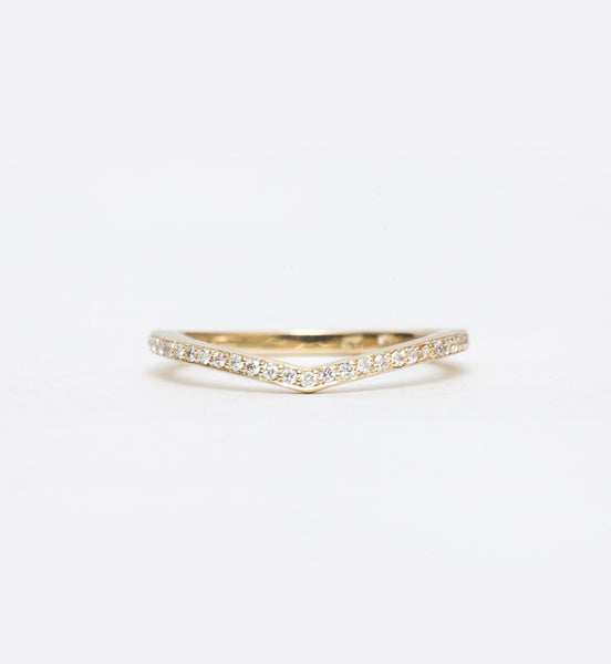 White Diamond Curved Eternity Band