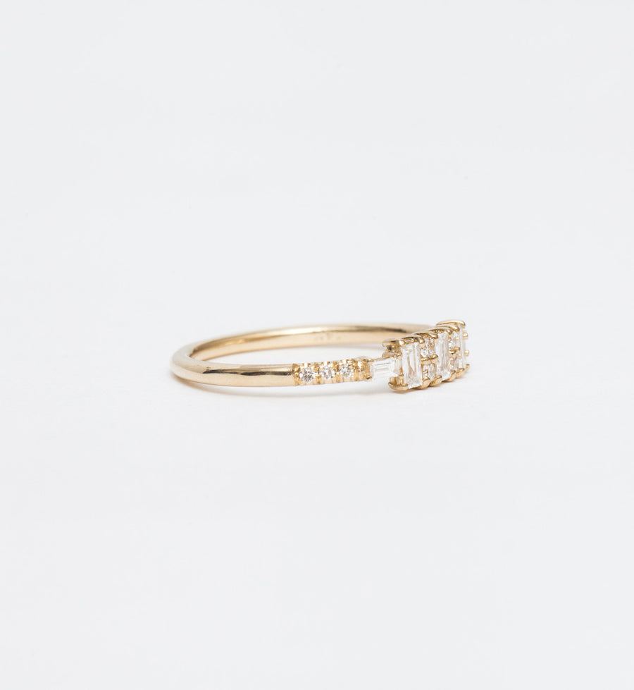 Diamond Baguette Reflection Ring