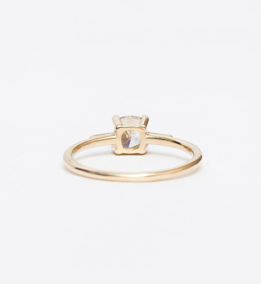 Cushion Cut Diamond Melody Ring
