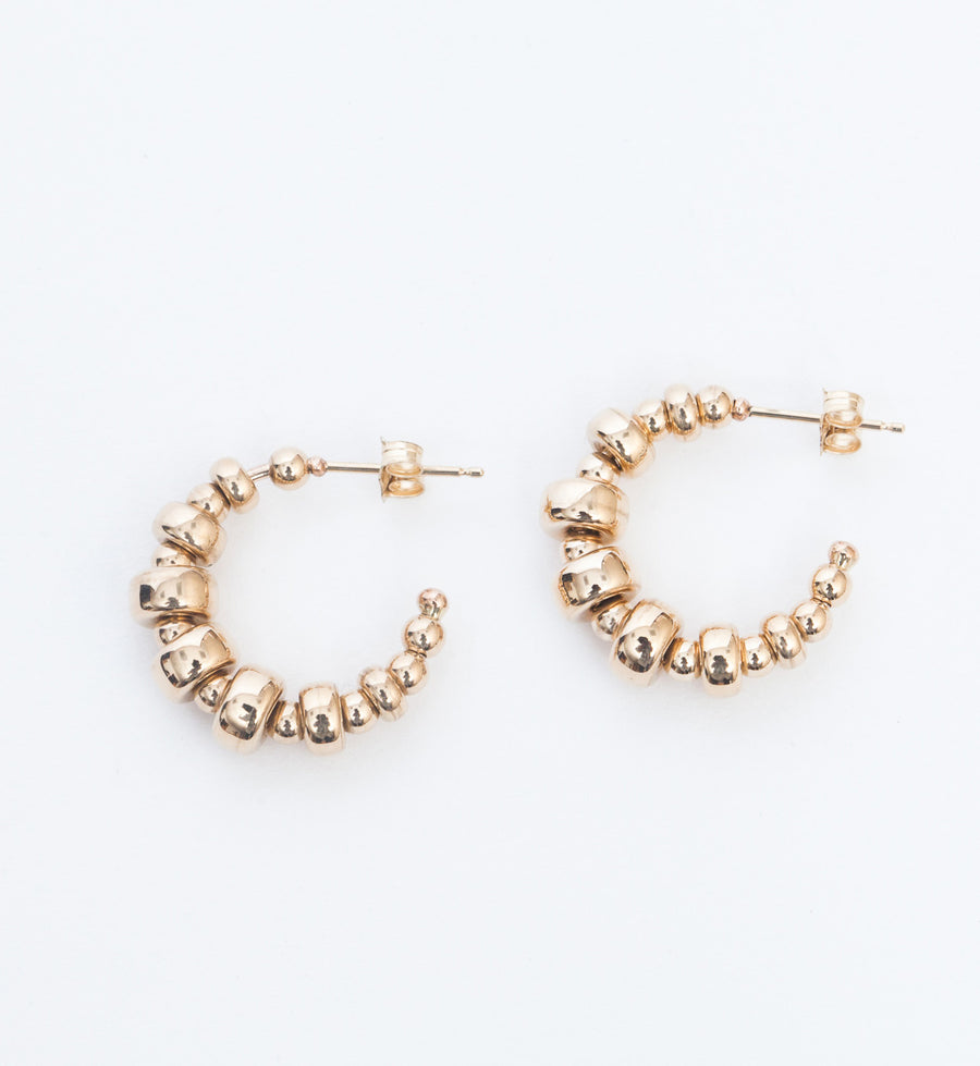 Small Graduated Rondelle Bead Hoops
