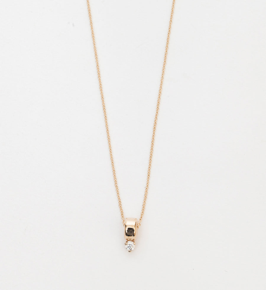 Prong Diamond Rondelle Necklace