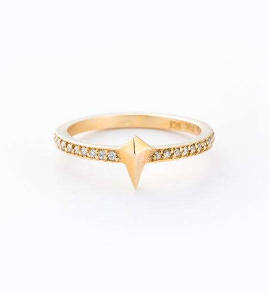 Pointed Eternity Ring: Front