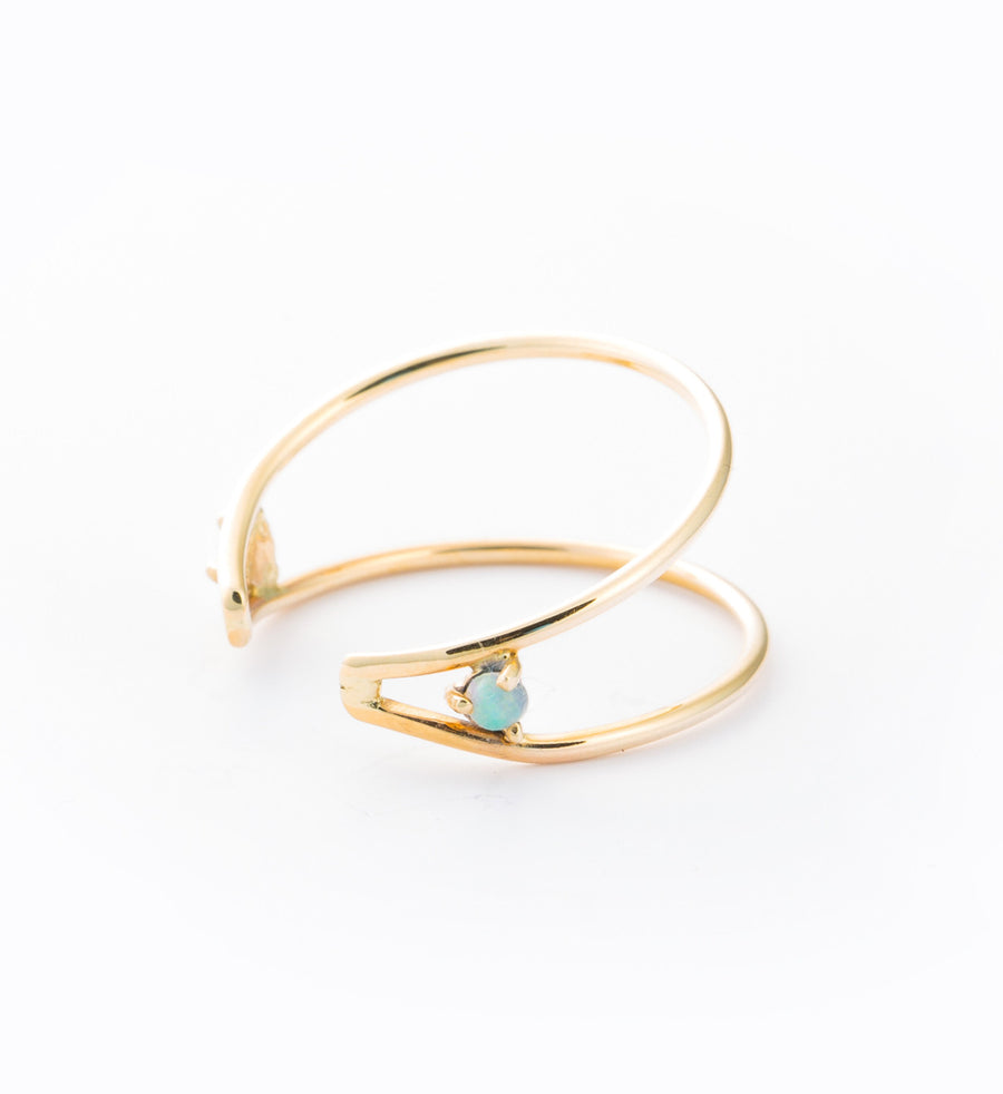 Wrapped Opal Ring: Angle
