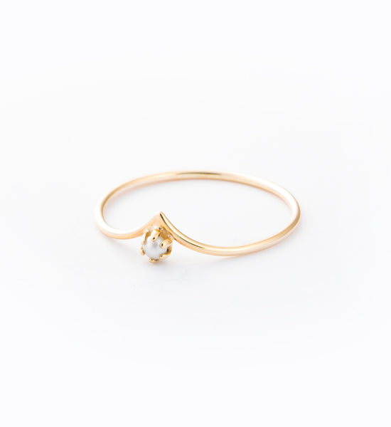 Pearled Drop Ring: Angle