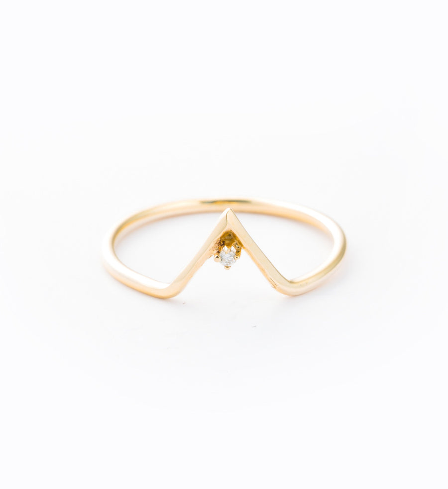Diamond Triangle Ring: Front