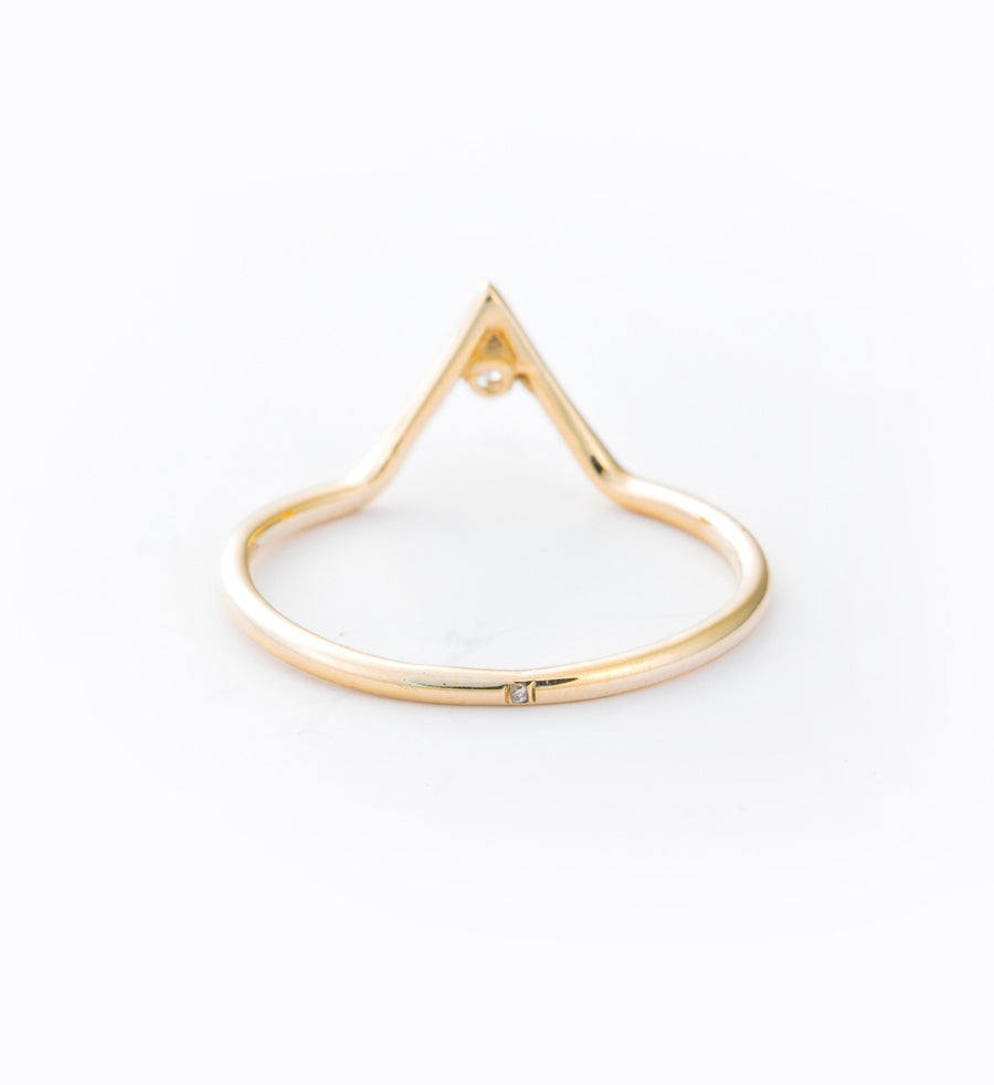 Diamond Triangle Ring: Back
