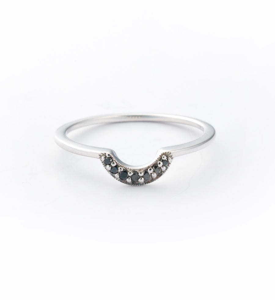 Tiny Crescent Ring: Front