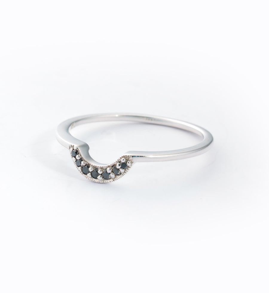 Tiny Crescent Ring: Angle