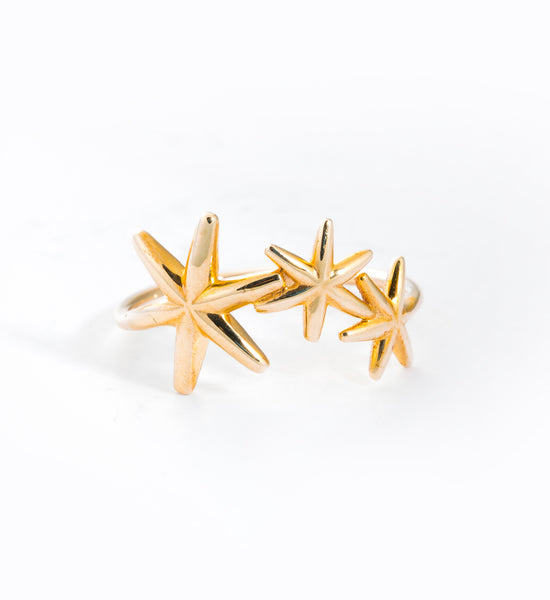 Bold Star Ring: Front