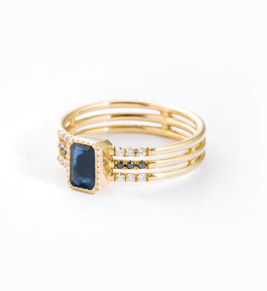 Sapphire Multi Band Ring: Angle