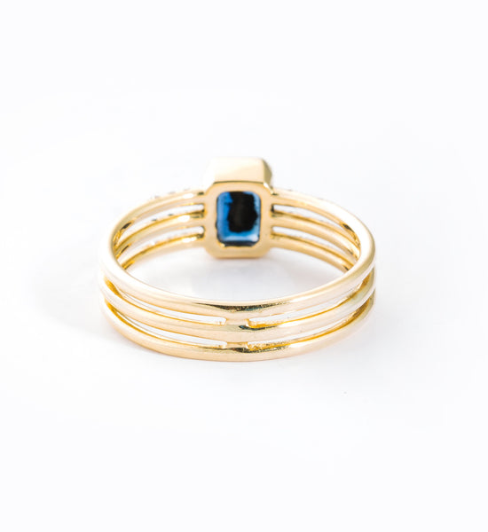 Sapphire Multi Band Ring: Back
