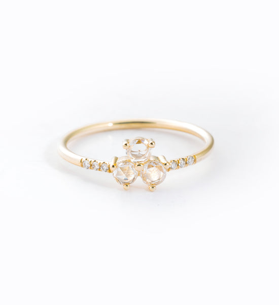 Diamond Triad Equilibrium Ring: Front