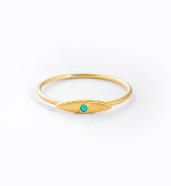 Evil Eye Turquoise Ring: Front