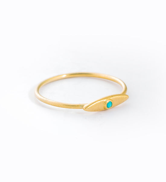 Evil Eye Turquoise Ring: Angle