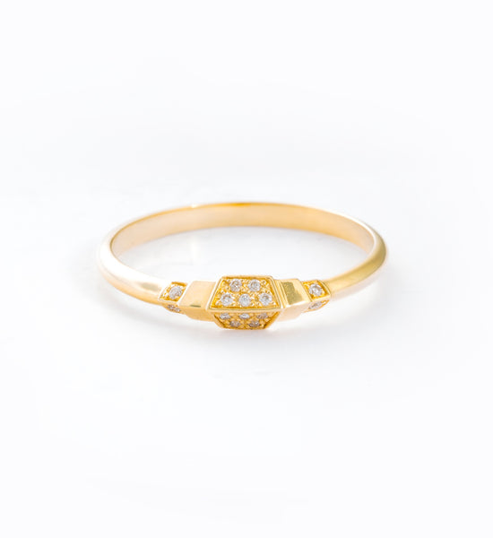 Adoree Diamond Ring: Front