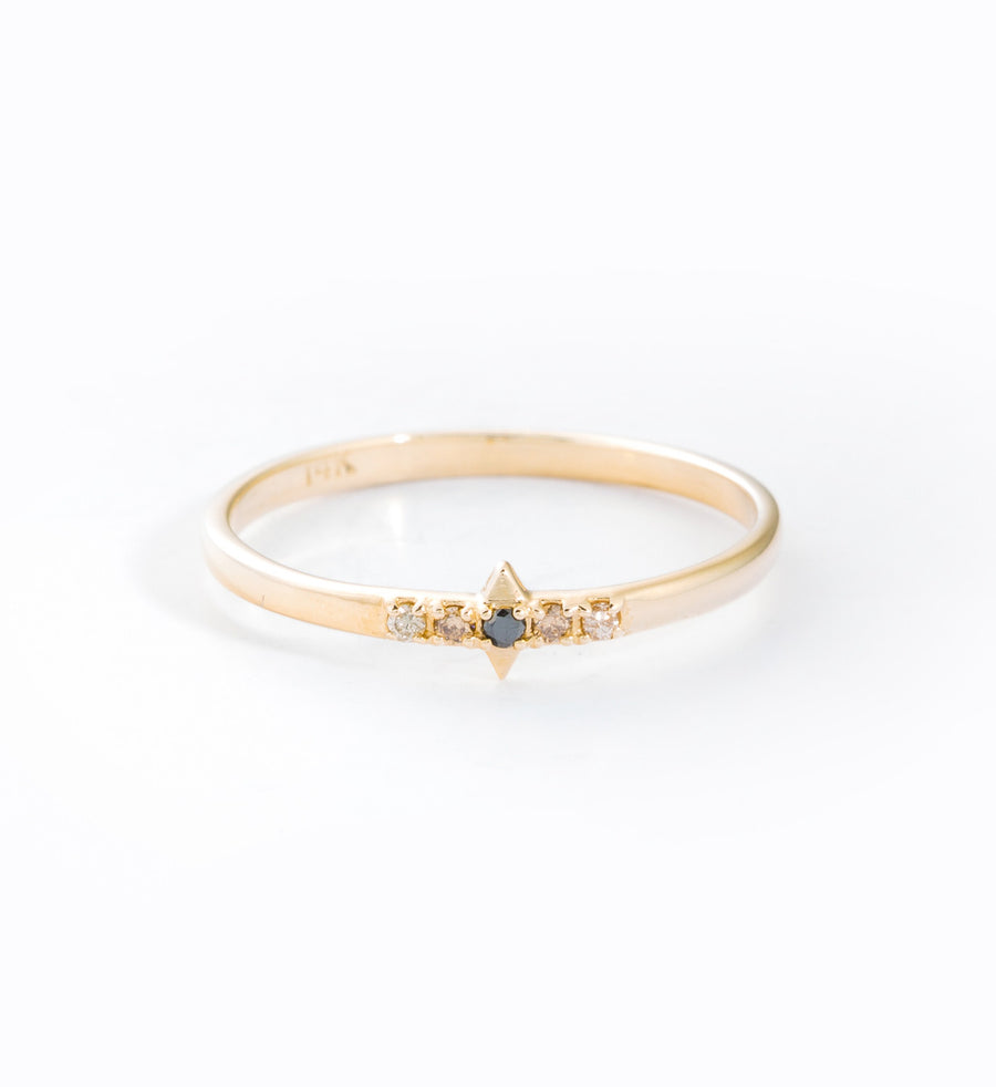 Solar Flare Diamond Ombre Ring: Front