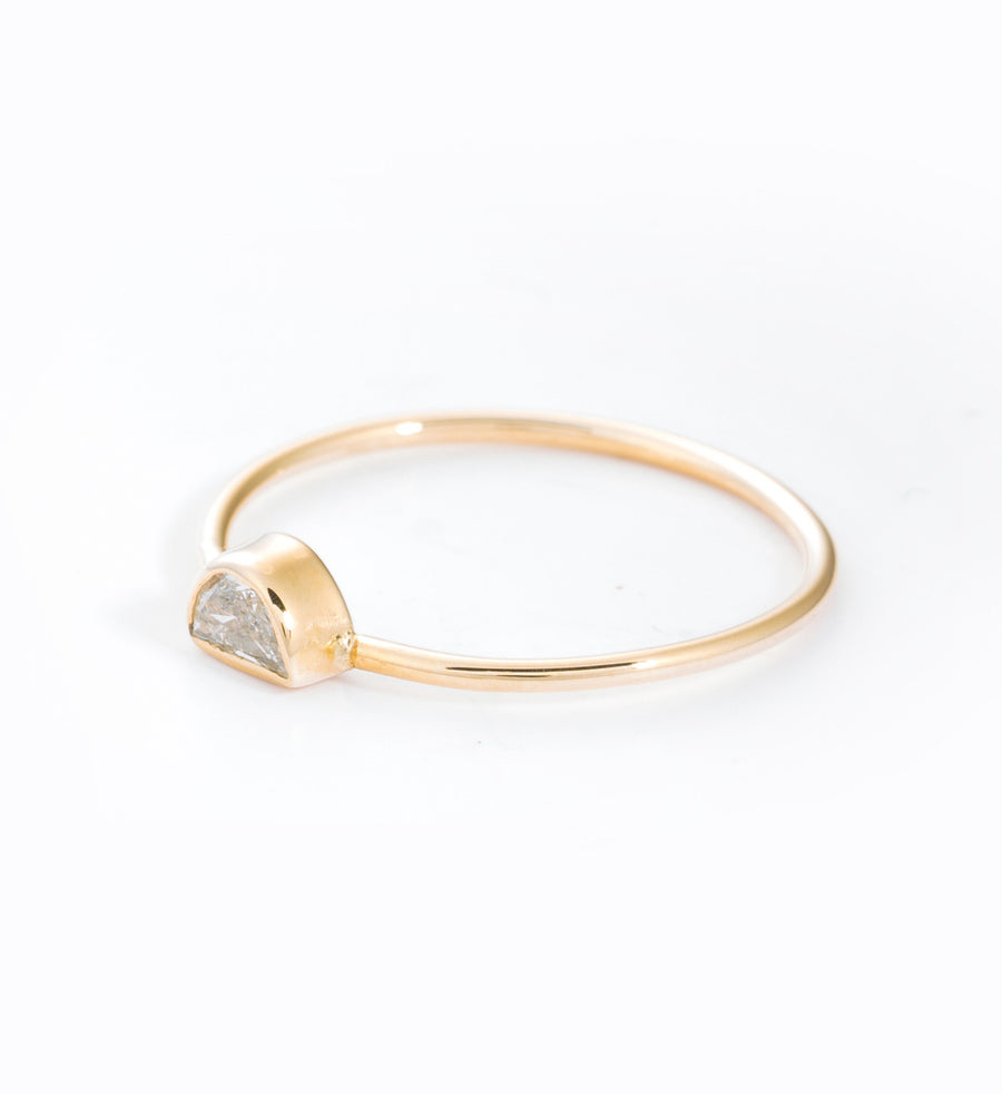 Half Moon Diamond Ring: Angle