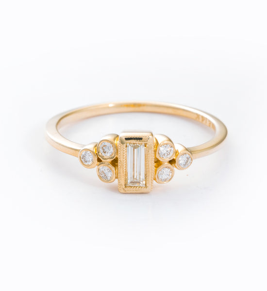 Ophelia Baguette Ring: Front