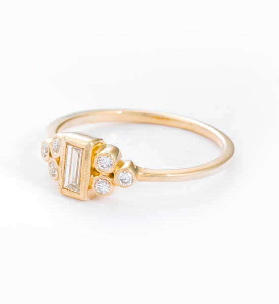 Ophelia Baguette Ring: Angle