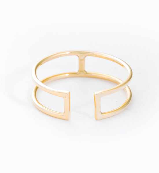 Open Wire Rectangle Ring: Front