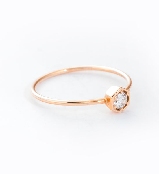 Lily Hexagon Ring: Angle