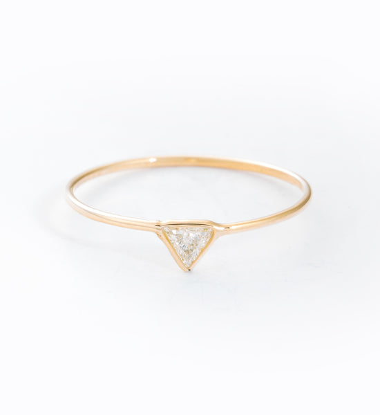 Trilliant Cut Diamond Ring: Front