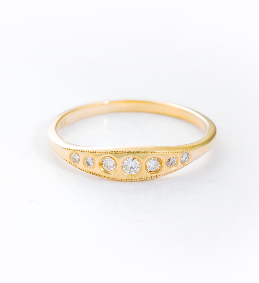 Milly Diamond Ring: Front