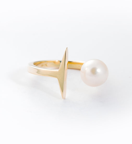 Suspended Pearl Ring: Front