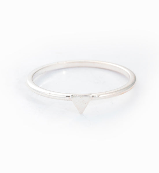 Silver Tiny Triangle Ring