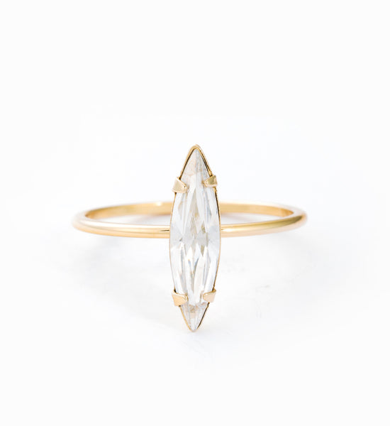 Gold Vermeil Crystal Shard Ring: Front