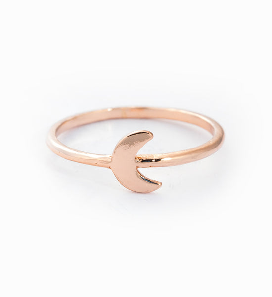 Rose Gold Little Moon Ring