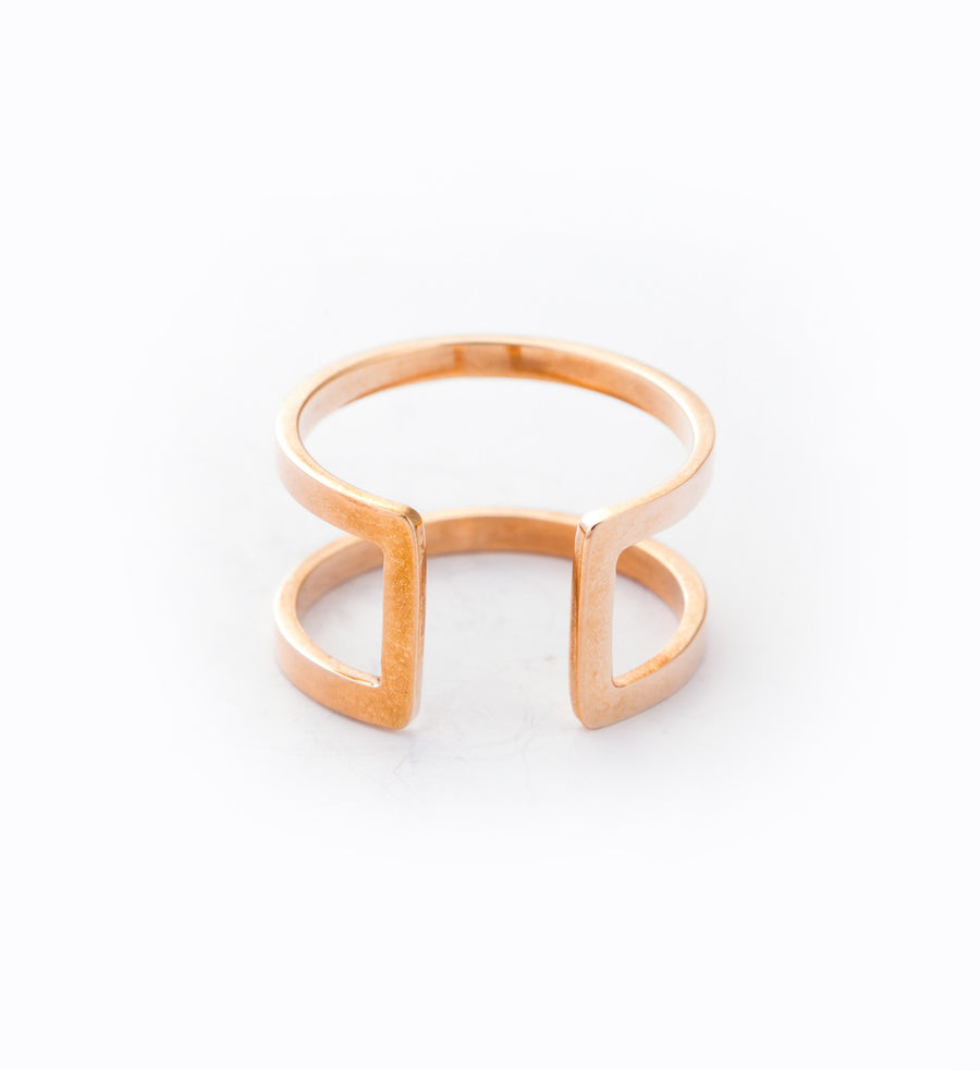 Rose Gold Cage Ring: Front