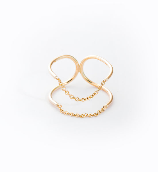 Chain Ellipse Ring: Front