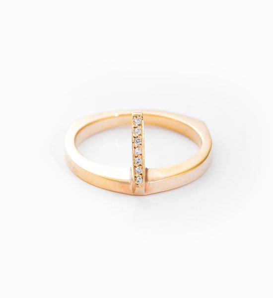 Gold Flame Ring: Front