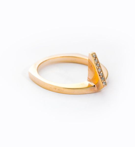 Gold Flame Ring: Angle