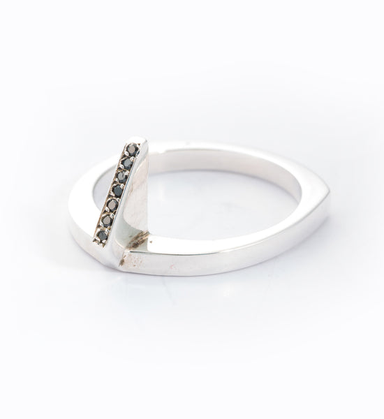 Silver Flame Ring: Angle