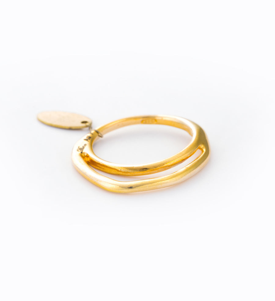 Gold Double Arc Ring