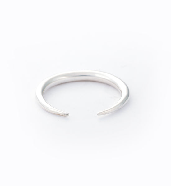 Silver Infinite Tusk Ring