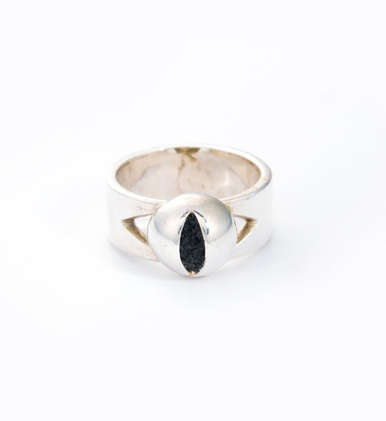 Silver Cat Eye Ring: Front