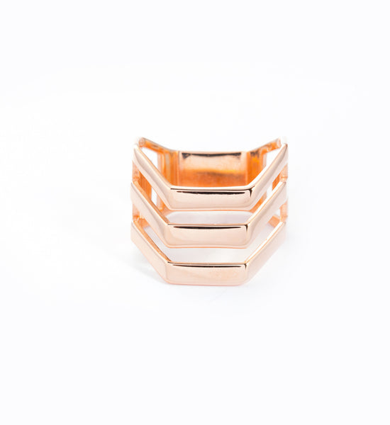 Rose Gold Trinity Ring: Front