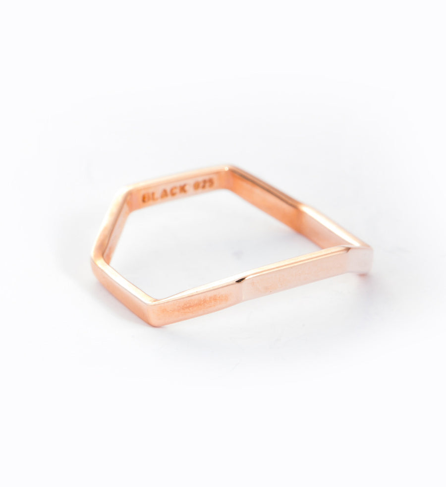 Rose Gold Stella Ring: Angle