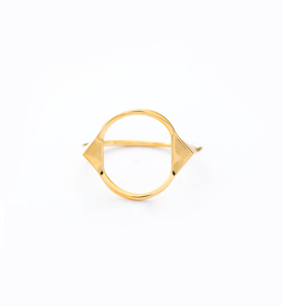 Spike Monocle Ring: Front