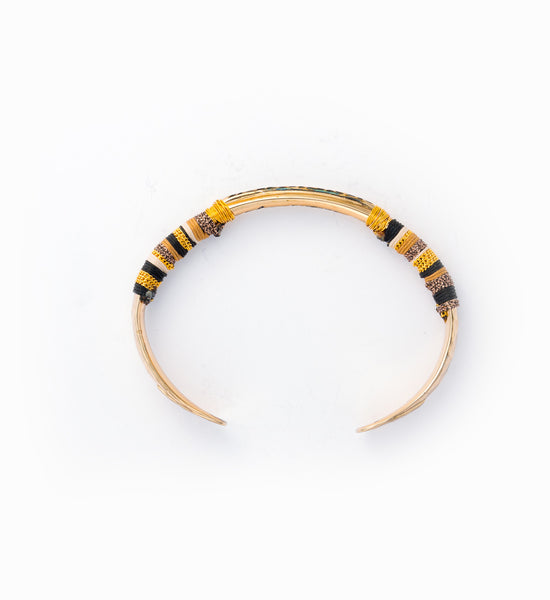 Gold Massai Bracelet: Side