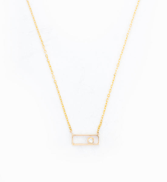 Rectangle with Diamond Necklace