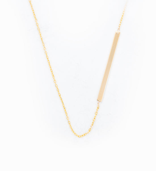 Asymmetric Bar Necklace