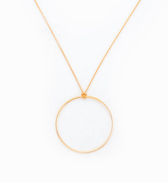 Baby Circle on Chain Necklace