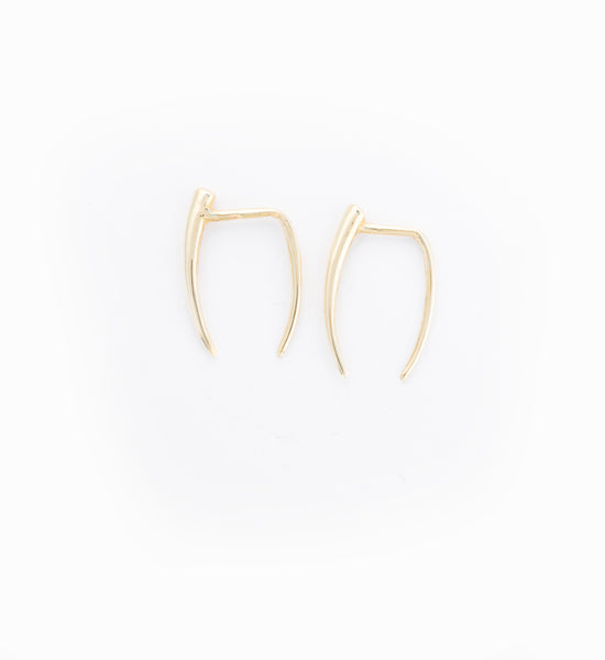 Gold Infinite Tusk Earring