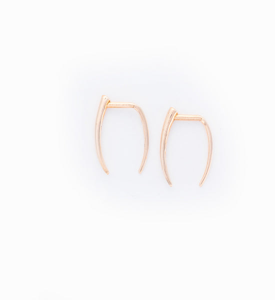 Rose Gold Infinite Tusk Earring